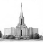 Jordan River Temple 11x14 Graphite on Paper